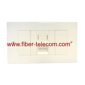 1port UK type Flat Wall Plate