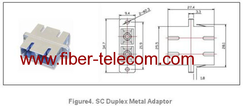 SC duplex metal housing adaptor