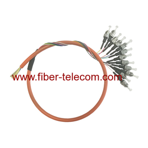 12cores ST Multi Mode Break-out Fiber Optic Pigtail