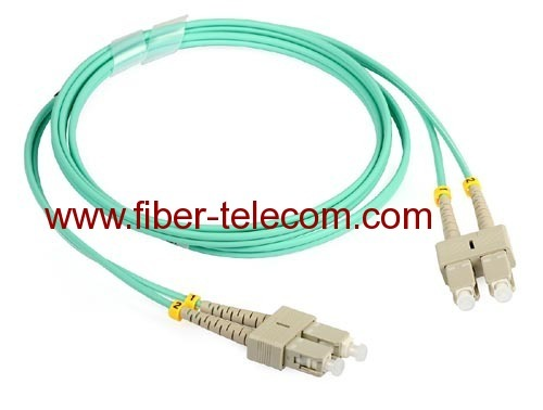 SC to SC OM3 Duplex Fiber Optical Patch Cord