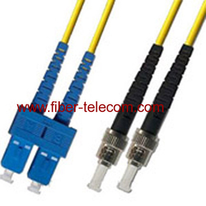 SC-ST Single Mode Duplex Fiber Optic Patch Cord