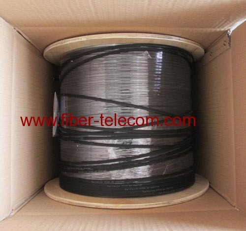 GJYXCH-4B6 FTTH Drop Cable 4 Cores Fig.8 with 0.4mm Steel Wire Strength Member