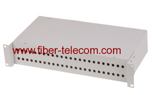 "19"" rack mounted fiber optic patch panel 2U"