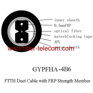 GYPFHA-4B6 FTTH duct cable 4 core with 0.5mm FRP strength member
