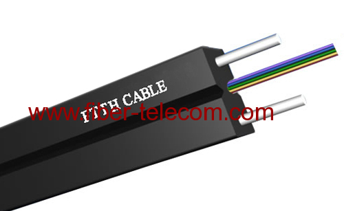 GJXH-4B6 FTTH Indoor Cable 4 Core with 0.4mm Steel Wire Strength Member