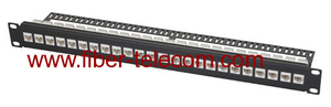 CAT.6 UTP Patch Panel 1U 24 ports with RJ45 keystone jack
