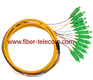 SC/APC Single Mode Break-out Fiber Optic Pigtail