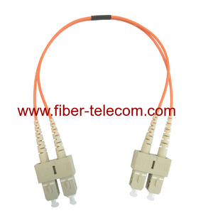 SC to SC Multimode Duplex Fibre Optical Patch Cable