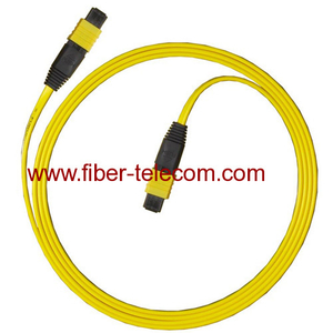 Cable Assembly Fiber Optic MPO Jumper 12-fibers