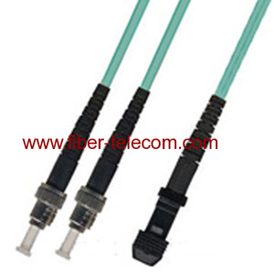 ST-MTRJ Multi Mode OM3 Duplex AQUA Fiber Optic Patch Cord