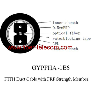 GYPFHA-1B6 FTTH Duct Cable 1 Core with 0.5mm FRP Strength Member
